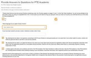 مراحل ثبت نام آزمون PTE