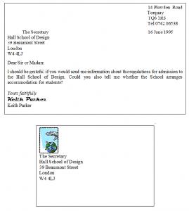 نمونه نامه رسمی