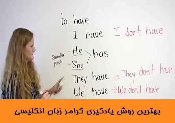 بهترین روش یادگیری گرامر زبان انگلیسی