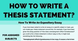 Thesis statement چیست