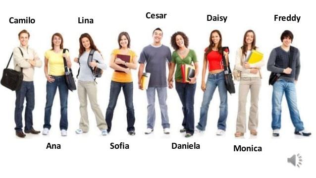 توصیف لباس افراد به انگلیسی