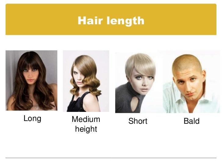 توصیف موی افراد به انگلیسی