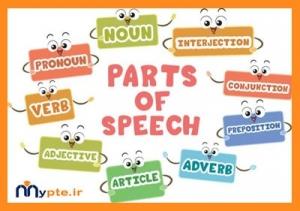 Part of speech یا اجزای کلمه در جمله