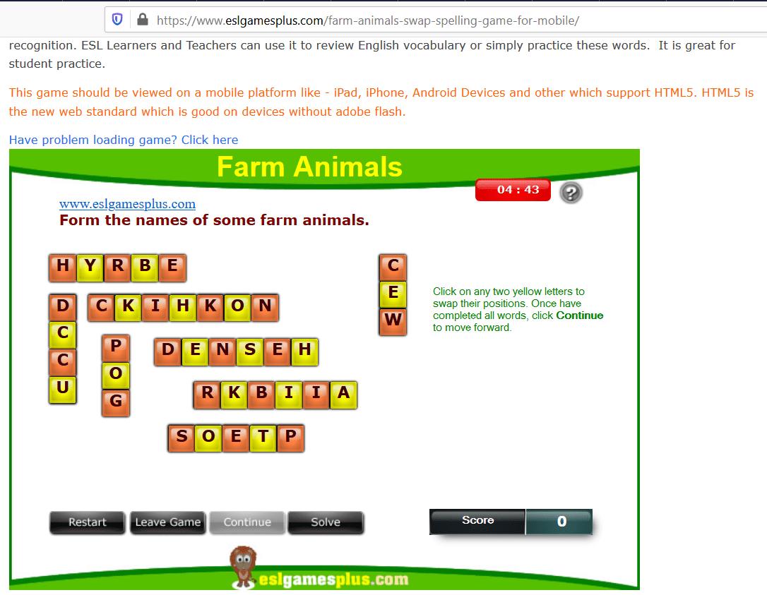 یادگیری زبان با بازی